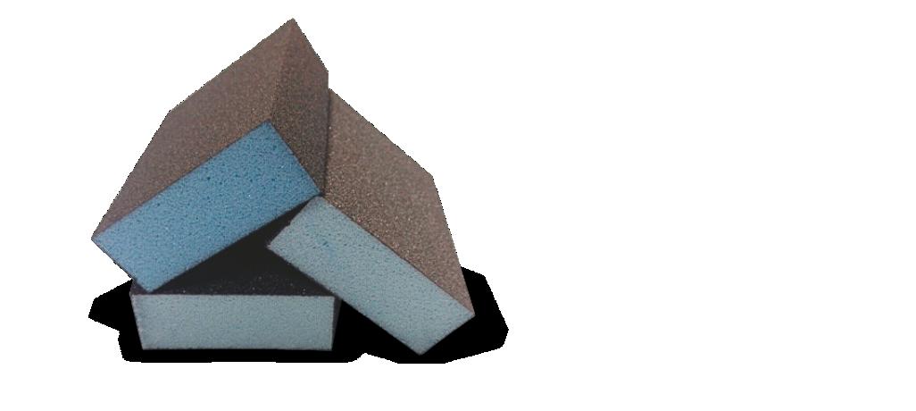 Taco de lija azul